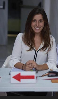 Marta Seguí, en una imagen captada en la mesa de anotadores del Palau de Son Moix.
