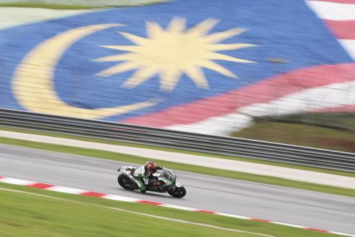 El alemán Stefan Bradl, durante los entrenamientos del Gran Premio de Malasia de MotoGP.