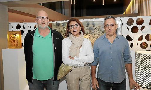 Guilermo Vizoso, Ana Morillas y Toni Quetglas.