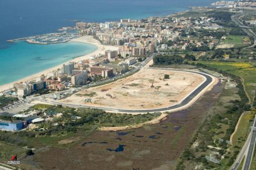 Imagen del proyecto comercial en ses Fontanelles, el último proyectado en la capital balear.