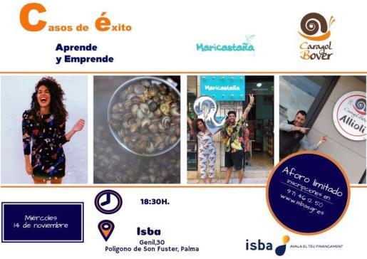 La quinta edición de las jornadas contará con la participación de las empresas Caragol Bover y Maricastaña que explicarán sus casos empresariales y el papel de ISBA como apoyo financiero a su proyecto.