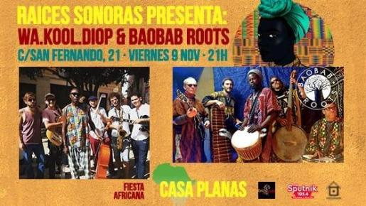 Wa Koul Diop y Baobab Roots ponen música a la Fiesta Africana de Casa Planas.