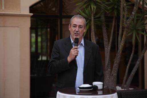 Guillem Boscana, presidente del Iberojet Palma, en una reciente intervención.,