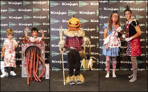 Los ganadores de las tres categorías del concurso de Halloween que organiza El Corte Inglés, junto a Ultima Hora.