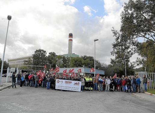 Hace ahora precisamente un año los trabajadores de es Murterar ya realizaron una concentración.