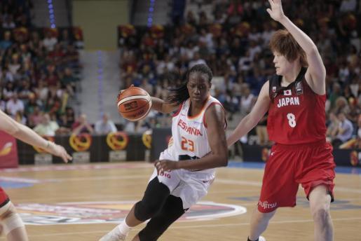 Nogaye Lo, durante el partido que España y Japón jugaron en Son Moix.