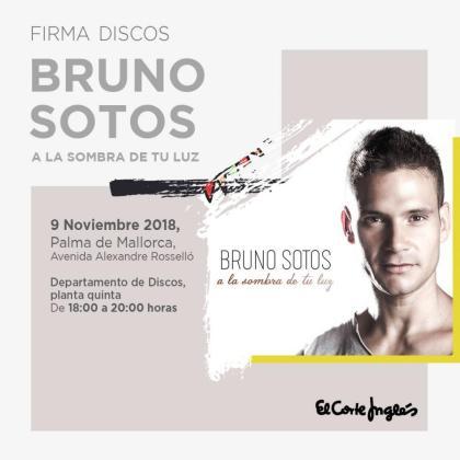 El cantautor mallorquín Bruno Sotos recala en El Corte Inglés de Avenidas para firmar su último disco.