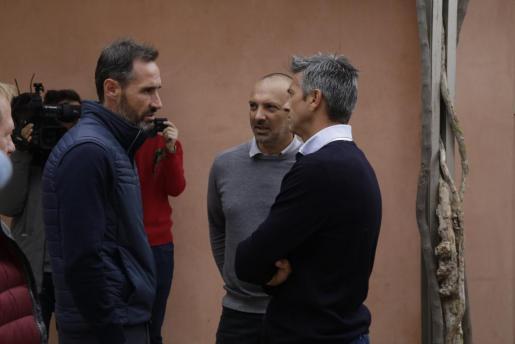 Vicente Moreno, Pepe Gálvez y Pep Lluís Martí, en Son Bibiloni.