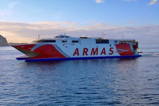 En la imagen, el ferry 'Alborán' de la naviera Armas.