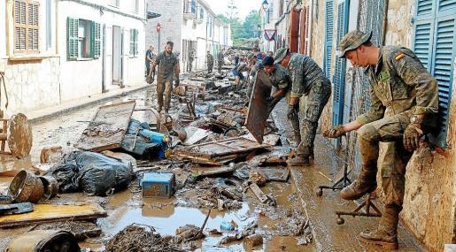 La UME colaboró activamente tras la tragedia de Sant Llorenç, de la que se cumple un mes.