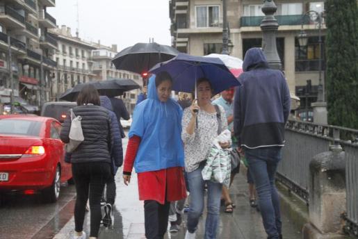Imagen de archivo de lluvias en Palma.