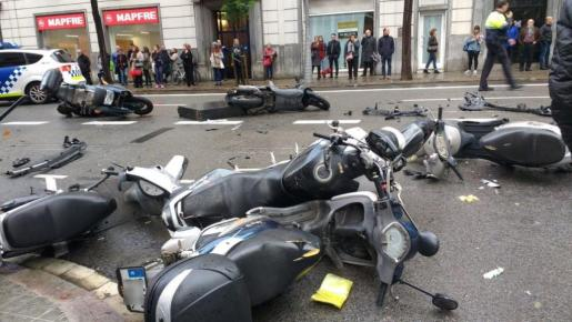Imagen de la zona del accidente.
