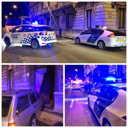 Imágenes del accidente registrado este sábado en Palma.