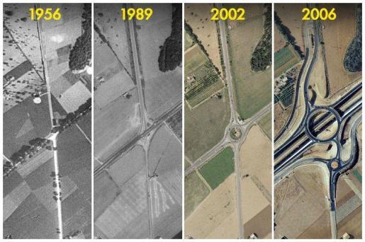 Evolución de la carretera Llucmajor-Campos.