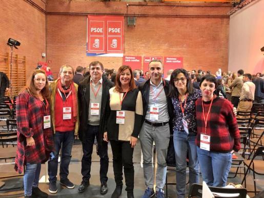 Los socialistas baleares, este sábado en el Comité Federal del PSOE.