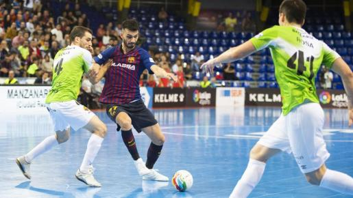 El Palma Futsal juega contra el Barça Lassa.