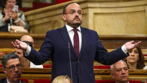 Alejandro Fernández era el portavoz del PP en el Parlament catalán.