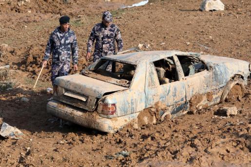 Imagen de las inundaciones en Jordania.