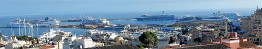 Tal concentración turística por estas fechas confirma la destacionalizacion del mercado de cruceros en Mallorca.