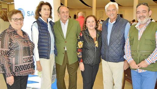 María Alcázar, Carmen Planas, Pep Zaforteza, Carme Dameto, Juan Carlos Rodríguez Toubes y Alfons Moll.