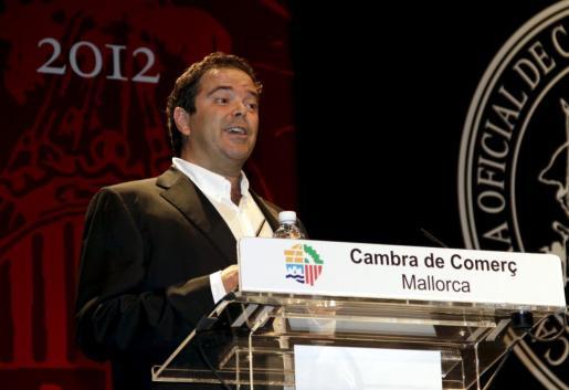 Ovidio Andrés en el acto de entrega de medallas de la Cámara de Comercio en 2012.