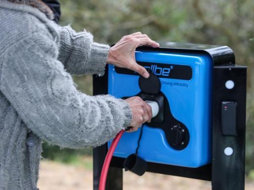 Imagen de un punto de recarga de vehículos eléctricos.