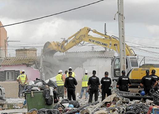 Imagen de archivo de una de las viviendas demolidas.