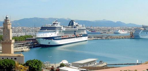 El puerto de Palma acumula de enero a agosto de 2018 un total de 571 escalas de cruceros, todo un récord.