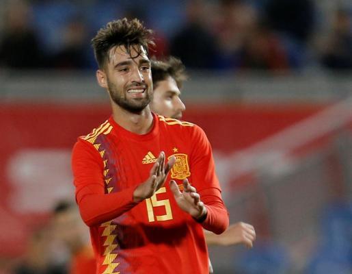 Brais Méndez, centrocampista del Celta, marcó el gol de la victoria de España en el amistoso ante Bosnia.