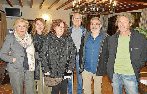 Felicidad García, Soledad Fernández, Mari Fe Fernández, Juan Ferrer, Gabriel Morán y Jochem Becker.