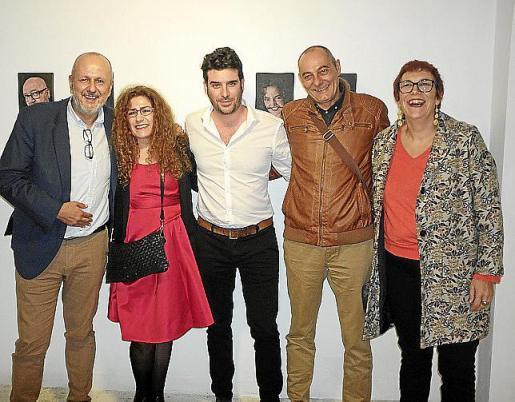 Miquel Ensenyat, Carmen Cañadas, Biel Perelló, Rafael Frutos y Catalina Socies.
