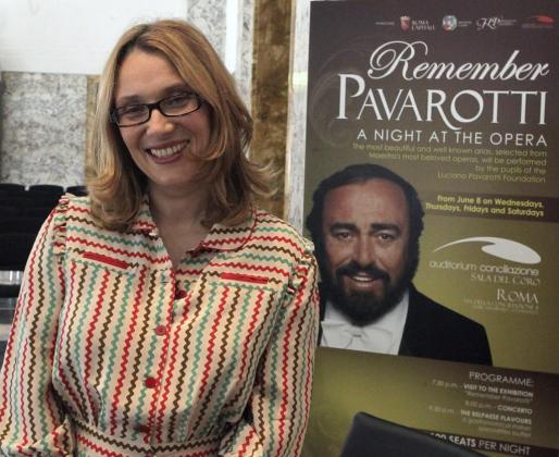 Nicoletta Mantovani, viuda del tenor italiano Luciano Pavarotti, en una imagen de archivo.