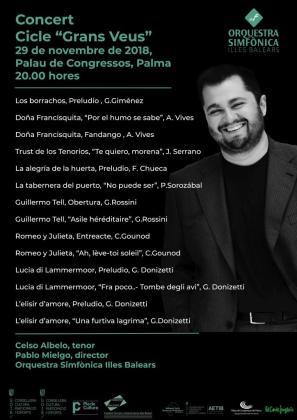 Celso Albelo es el solista invitado al primer concierto del ciclo 'Grans veus'.