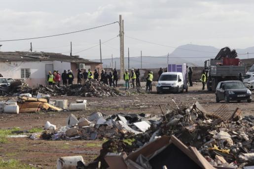 El Ayuntamiento de Palma sigue con los trabajos de desmantelamiento del poblado de Son Banya.