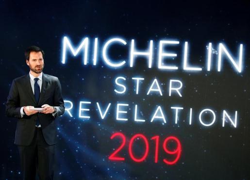 El director internacional de la Guía Michelin, Gwendal Poullennec, anuncia la lista de ganadores de la codiciada estrella Michelin 2019.