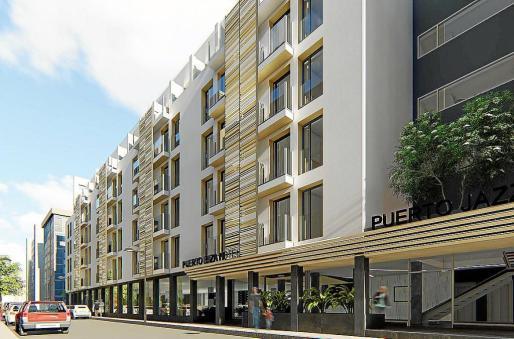 Aspecto que tendrá El Puerto Hotel después de su completa remodelación.