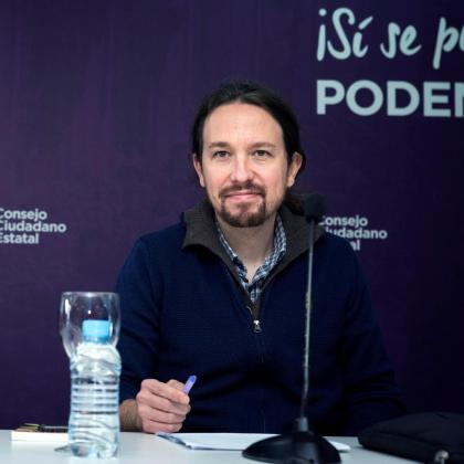 El secretario general de Podemos, Pablo Iglesias, durante la reunión de urgencia del Consejo Ciudadano Estatal del partido, el máximo órgano de dirección ante asambleas.