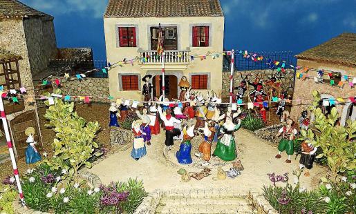 Imagen de la recreación de un pueblo mallorquín en fiestas.