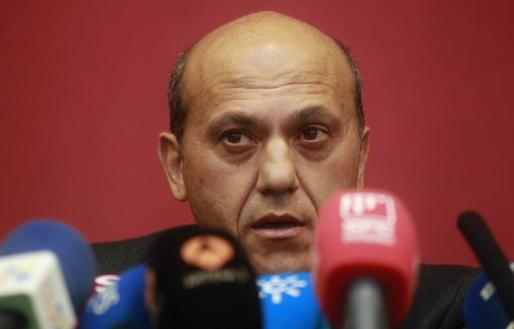 El presidente del Sevilla, José María del Nido, durante la rueda de prensa que ha ofrecido hoy.