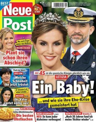 Portada de la revista alemana que afirma que Letizia está embarazada de gemelos.