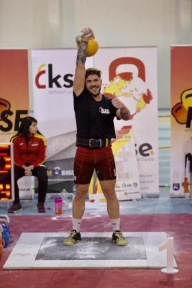Jorge Gomis, en plena competición.