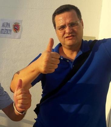 Imagen del aficionado mallorquín Pep Roig, directivo y uno de los fundadores de la Penya Ciutadella.
