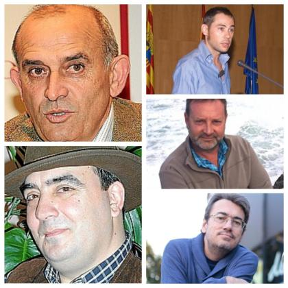 Hipólito Medrano, Miquel Ribas, Jeroni Galmés, Ramon Rosselló y Jaume Flexas.