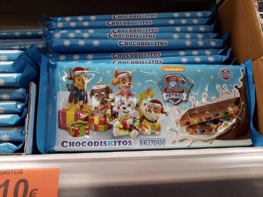 Imagen del turrón de chocolate de Mercadona del que se ha difundido el bulo por redes sociales.