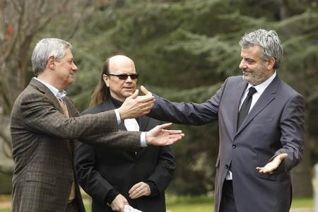 Imagen del rodaje del anuncio Campofrio el 2 de diciembre de 2011 en la Finca El Campillo en El Escorial.