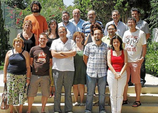 El grupo impulsor de IniciativaVerds en una imagen de 2010.