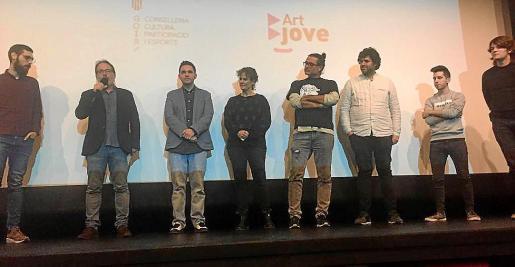Un momento de la entrega a Carles Bover del Premi art Jove 2018.