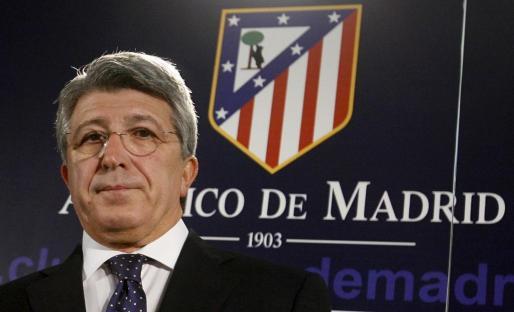 El presidente del Atlético de Madrid, Enrique Cerezo, en una imagen de archivo.