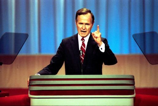 Imagen de archivo de George H.W. Bush cuando era vicepresidente de Ronald Reagan.