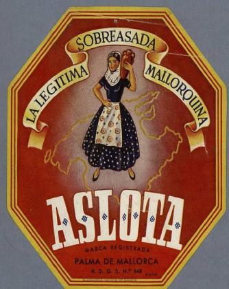 Detalle de un cartel publicitario del siglo XIX sobre la ensaimada en México.